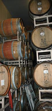 Russian River Brewing barrel room
