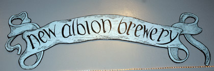 New Albion sign at Russian River Brewing