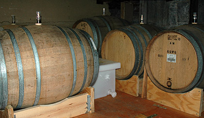 Cambridge Brewing barrels