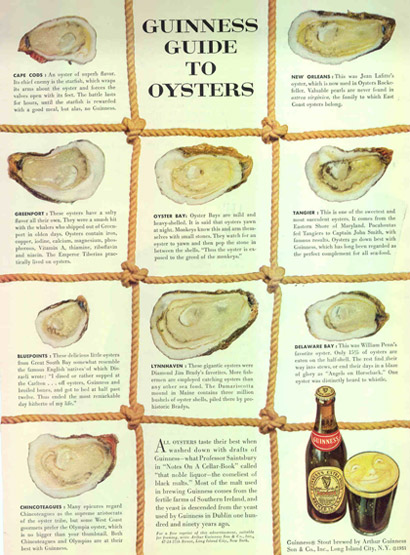 Guinness oysters ad