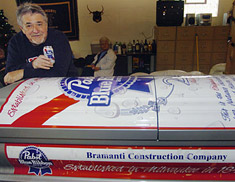 Pabst beer coffin