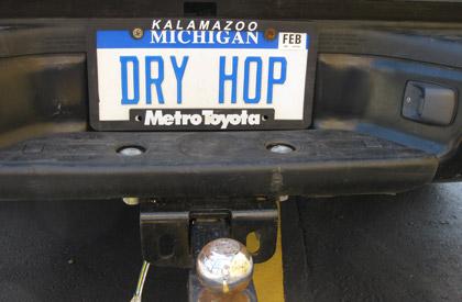 John Mallett's license plate