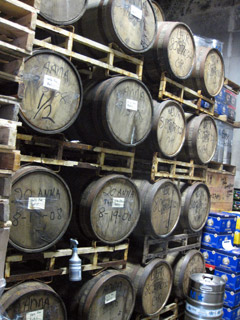 North Coast Brewing barrel room