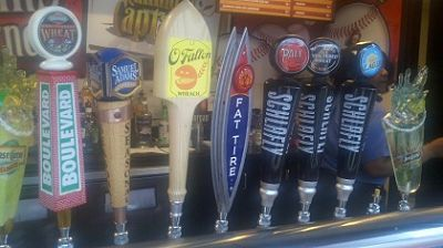 Beer lineup at Busch Stadium