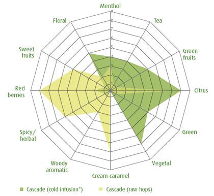 Cascade hop, Barth Haas Hop Aroma Compendium