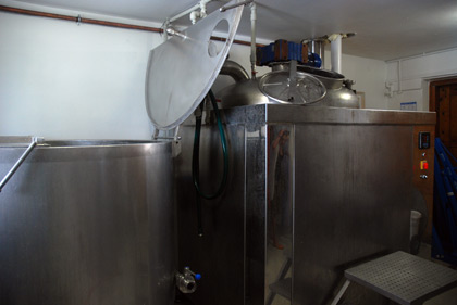 The brewhouse at Pracownia Piwa